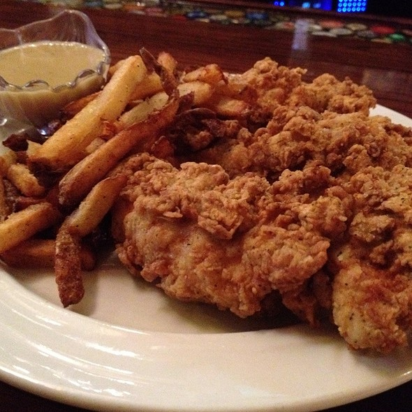Chicken Fingers with French Fries @ The Bier Abbey