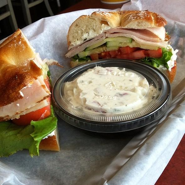 Tasty Turkey Sandwich And Potato Salad @ Einstein Bros. Bagels