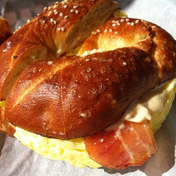 Bacon, Egg and Cheese Bagel @ Einstein Bros. Bagels