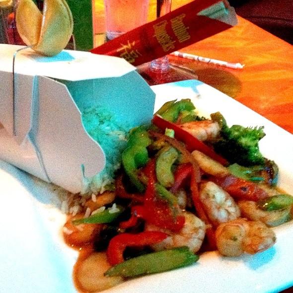 Bang Bang Shrimp Stir Fry @ Kahunaville Restaurant & Bar