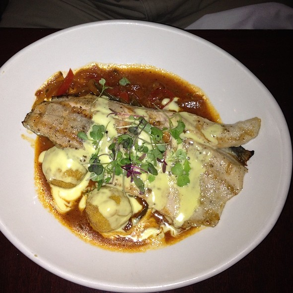 Basque Stew With Cumin Braised Trout And Fried Polenta - Martine Cafe, Salt Lake City, UT