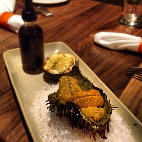 Uni from Depot bay Oregon, ponzu, grilled lemon. @ Imperial