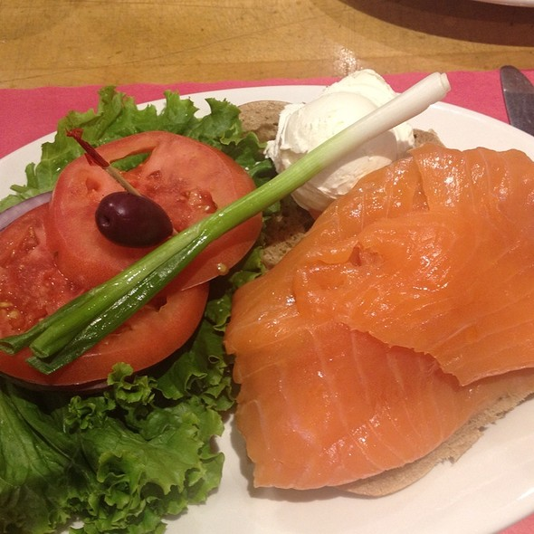 Hand-Sliced Nova Scotia Salmon On Bagel @ Sarge's Deli