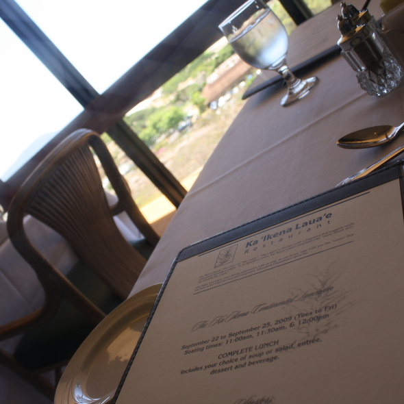 Menu @ Kapiolani Community College: Dining Room Reservations Lunch Dinner