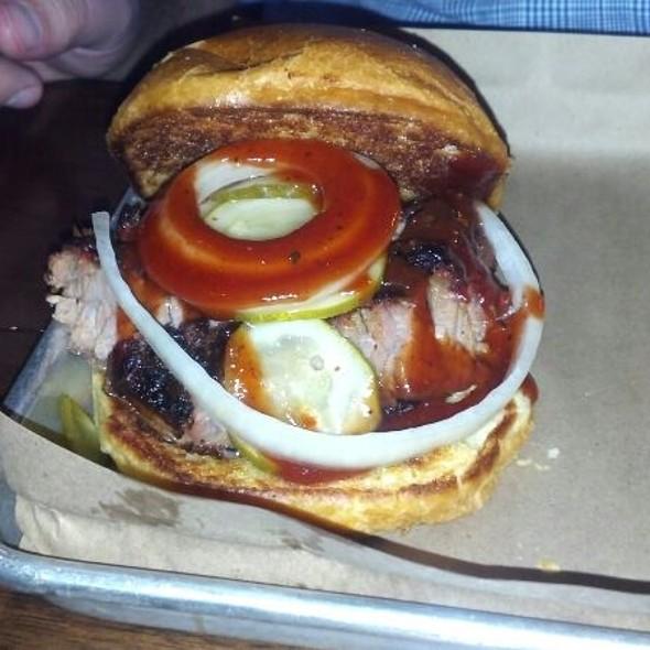 Brisket Sandwich - Doc Crow's Southern Smokehouse & Raw Bar, Louisville, KY