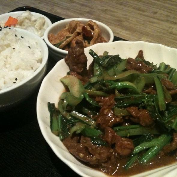 Satay Sauce Beef With Rice @ Bubble World Restaurant Richmond