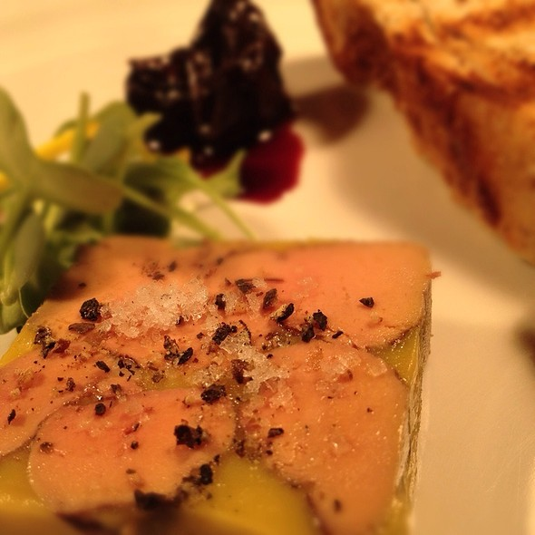 Duck Foie Gras Terrine, Prunes And Cashew Fruit Confit
