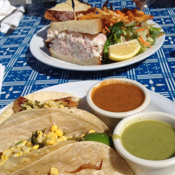 Fish Tacos & Sf Crab/Shrimp Sandwich @ Pier 23 Cafe