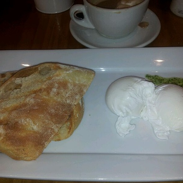 Poached Eggs On Toast @ The Deli