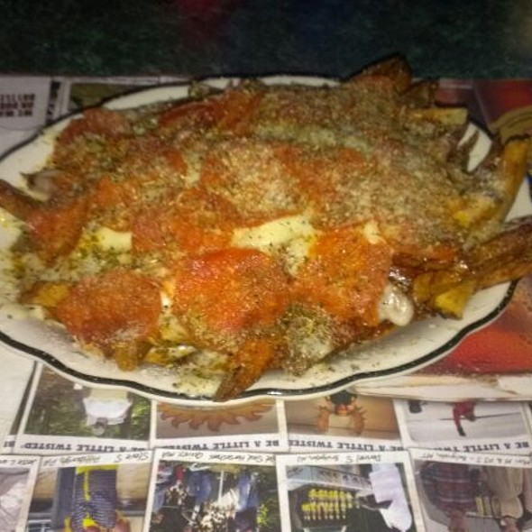Pizza Fries With Pepperoni @ Airport Bar & Grill