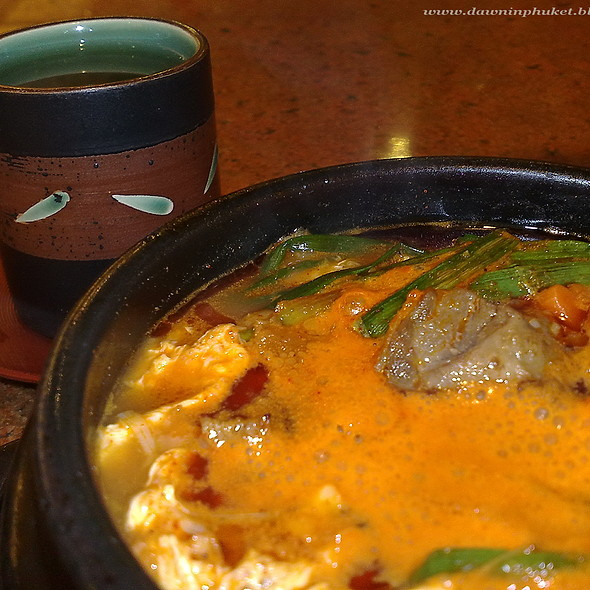 Korean Spicy Beef Soup @ sukishi grill @ central festival phuket