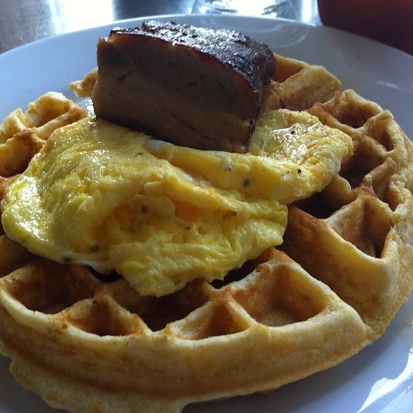 Pork Belly And Cornmeal Waffle @ Skillet Diner
