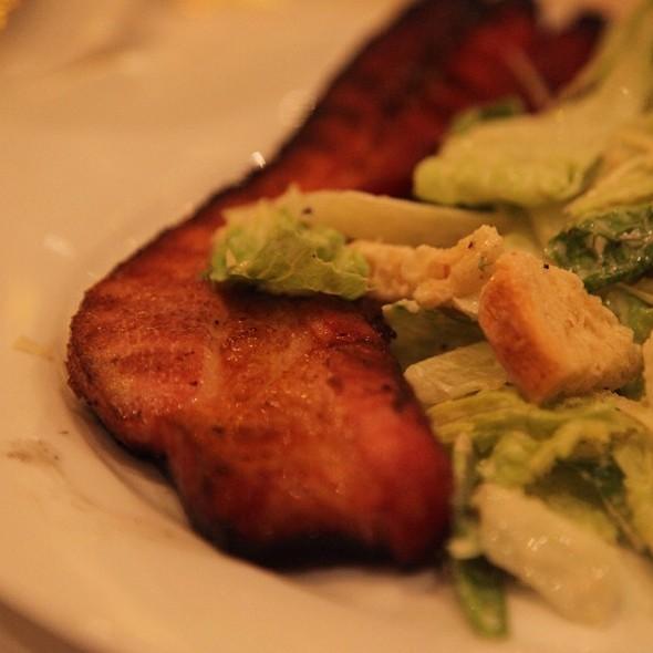 Sizzling Canadian Bacon & Caeser Salad - Benjamin Steakhouse, New York, NY
