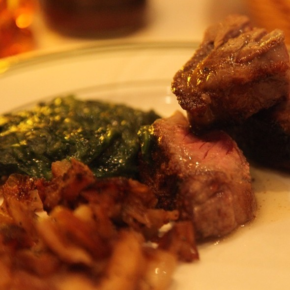 Poter House, Creamed Spinich & Potatoes - Benjamin Steakhouse, New York, NY