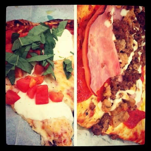 Meat Lovers And Caprese Pizza @ Luigi's Pizzeria