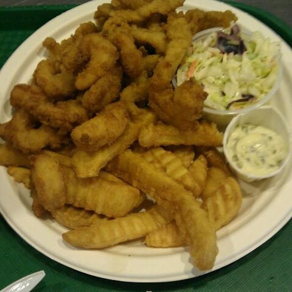 Two Way Combo, Fried Shrimp And Fried Clam Strips @ Lenny & Joe's Fish Tale