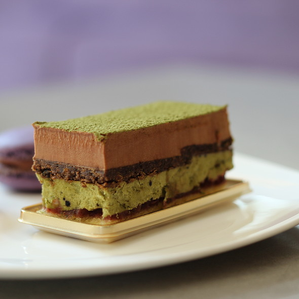 green tea black sesame cake @ Ruelo Patisserie