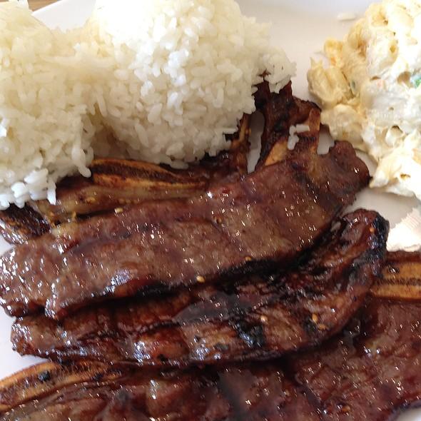 Kalbi BBQ Short Rib Lunch Plate
