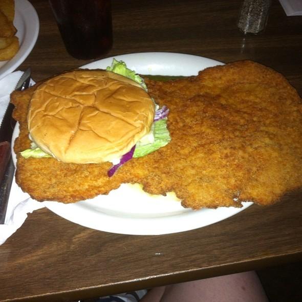Breaded Pork Tenderloin Sandwich @ Hagans Bar & Grill