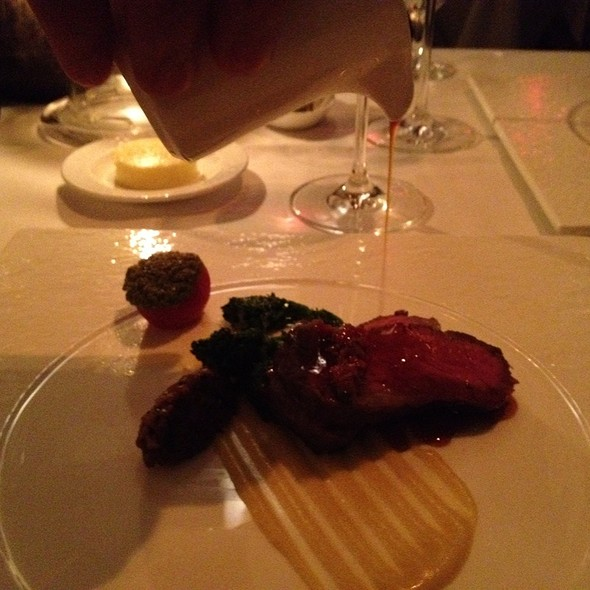 Prime Ny Strip With Corn Puree @ Aureole
