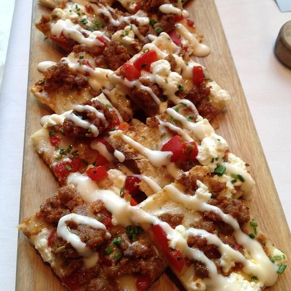 Spicy Sausage Flatbread @ 676 Restaurant & Bar