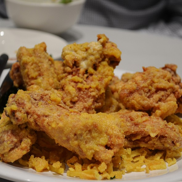 Salted Egg Chicken Chop. @ Pacific Seafood BBQ House