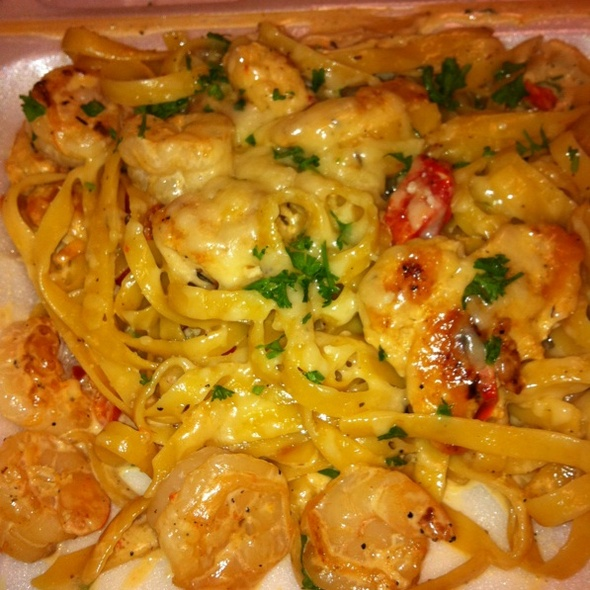 how to make chicken alfredo pasta with shrimp