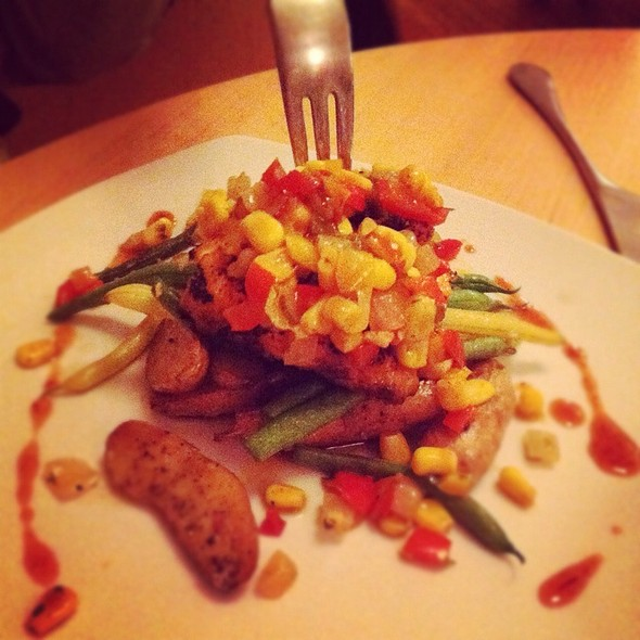 Grilled Char With Corn Salsa And Chipotle Honey - Solo Bistro, Bath, ME