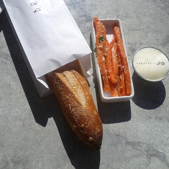 Fresh baked baguette, carrots and butter - Brasserie Jo - Boston, Boston, MA