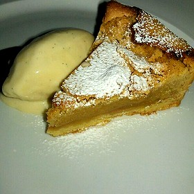 Brown Butter Pear Tart With Vanilla Bean Ice Cream