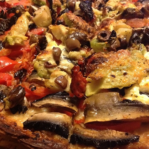 Bacon And Vegetables Pizza @ blowfish kitchen