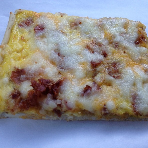 Breakfast Pizza @ Dearborn Italian Bakery