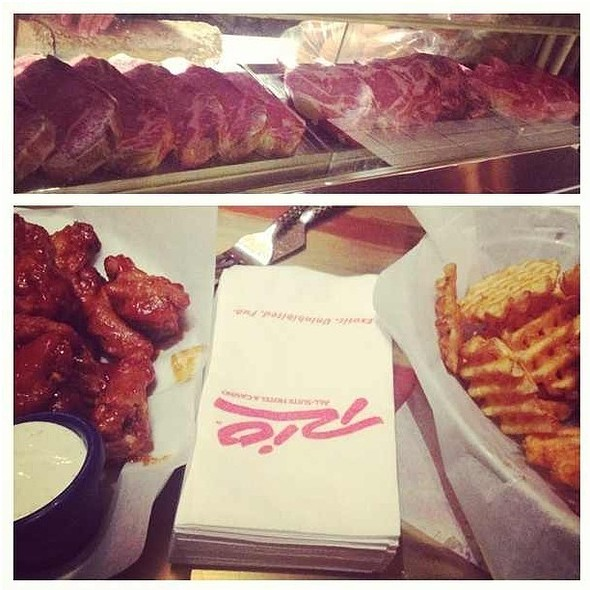 Wings And Waffle Fries - All American Bar & Grille - Rio All-Suite Hotel & Casino, Las Vegas, NV