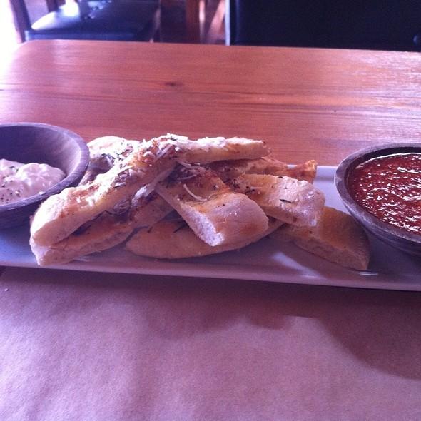 Pizza Bread With Burrata - Brick Pizzeria, San Clemente, CA