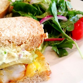 Tiger Prawn And Avocado Sandwich - Sacks Cafe and Restaurant, Anchorage, AK
