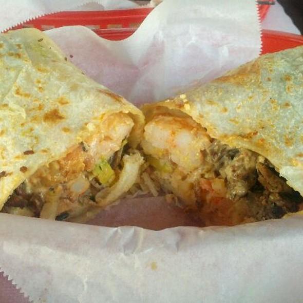 Surfin' California Burrito @ Lucha Libre Gourmet Taco Shop