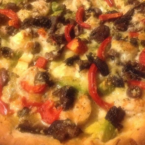 Garlic Prawn Pizza @ blowfish kitchen