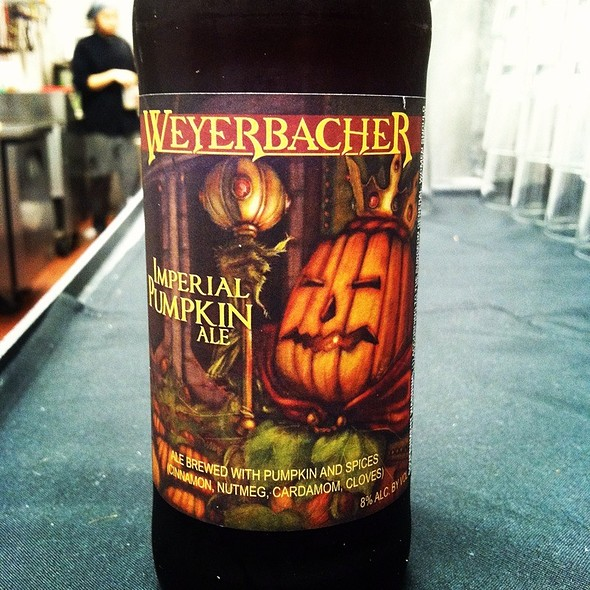 Weyerbacher Imperial Pumpkin Ale - 7M Grill, Omaha, NE