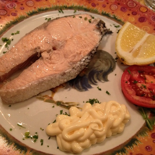 Boiled Salmon With Meisi @ Trattoria la Madia