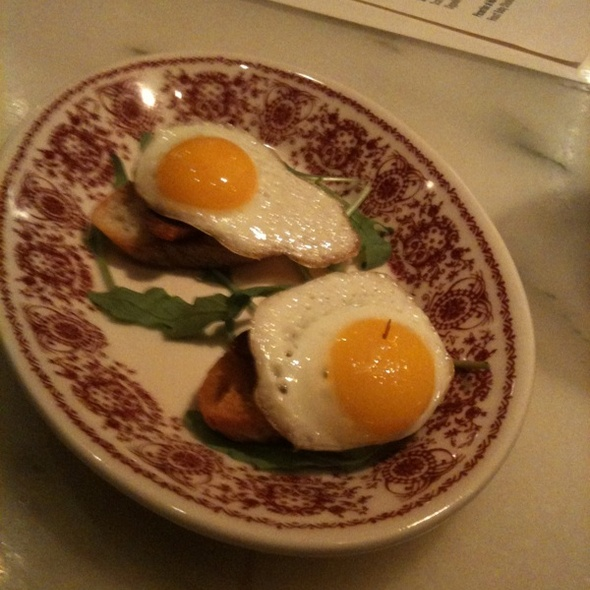 Fried Quail Egga With Chorizo On Toast @ Boqueria Soho
