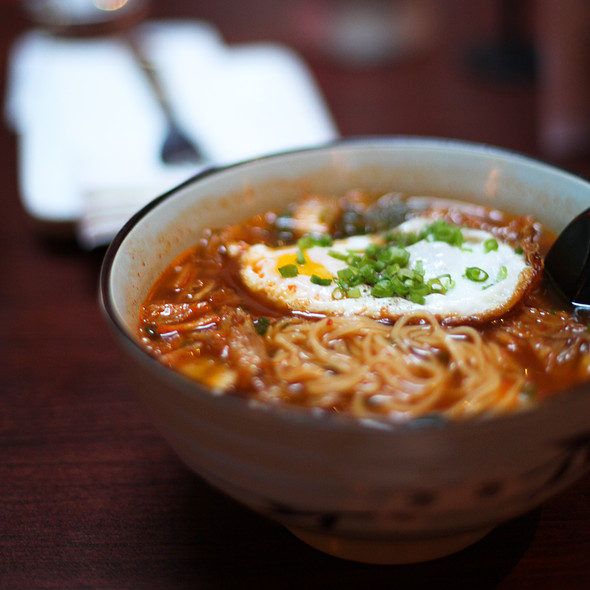 Braised duck and kimchi ramen @ Chubby Noodle @ AmanteSF