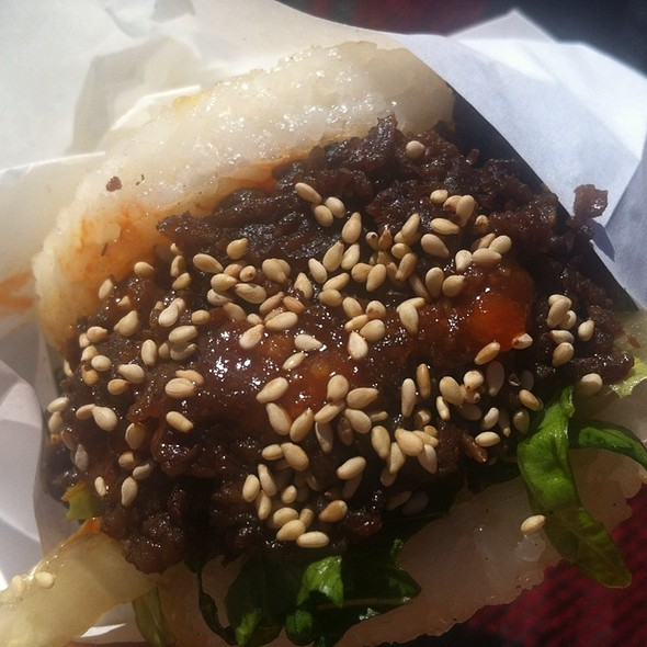 KoJa bulgogi burger @ Eat Real Fest 2012