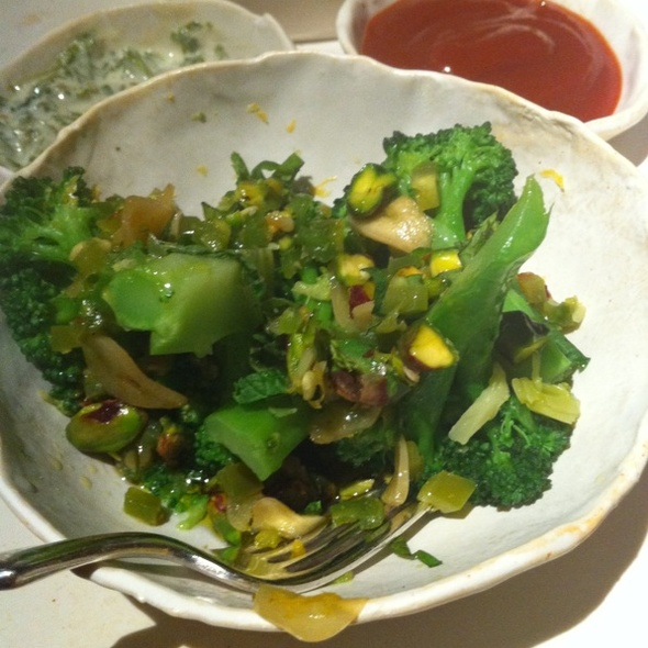 Roasted Broccoli With Pistachios And Shallots @ ABC Kitchen