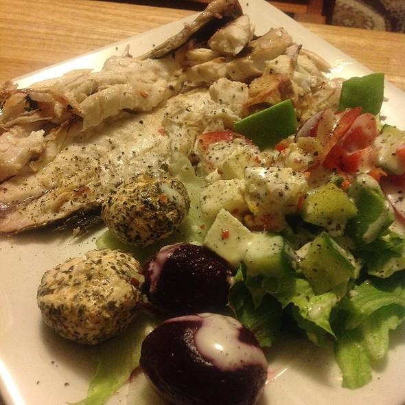Fish And Salad @ blowfish kitchen