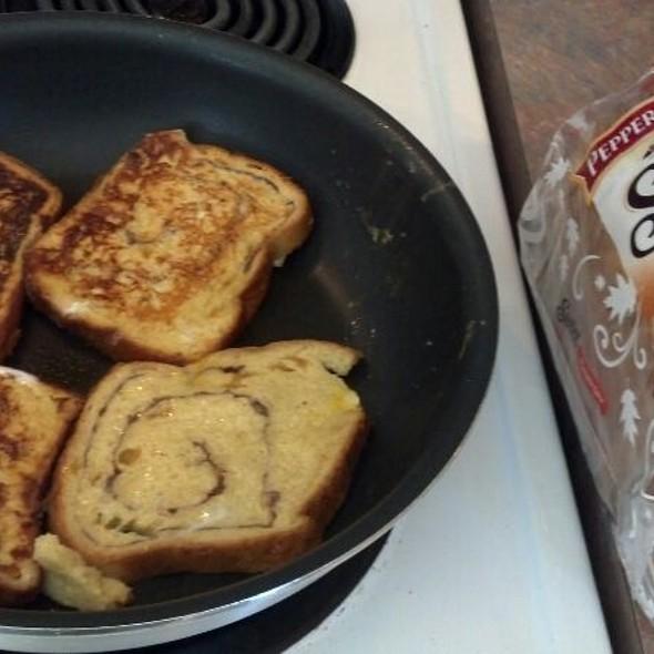 Pumpkin Swirl Bread French Toast @ My Kitchen