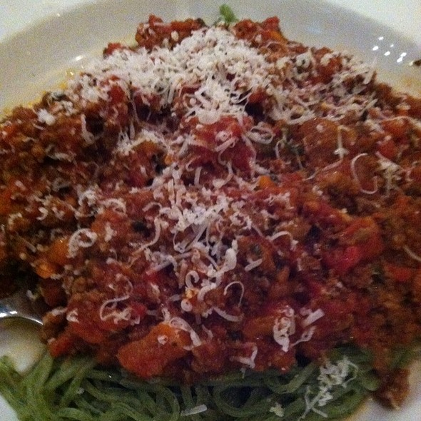 Spinach Angel Hair With Beef Bolgnese @ DePalma's Italian Cafe