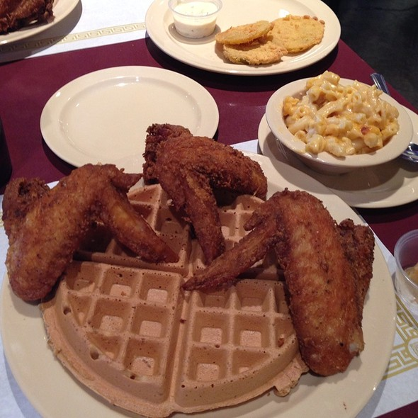 Fried Chicken and Sweet Potato Waffle