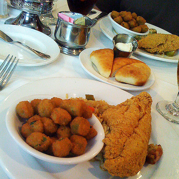 Fried Catfish - The Castle at Dunleith, Natchez, MS
