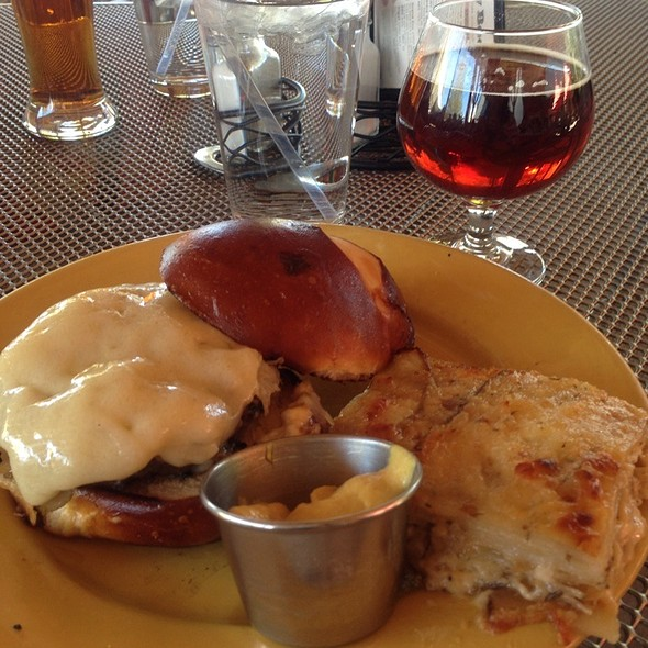 Bratwurst Burger And Pumpkin Ale @ The Schlafly Tap Room
