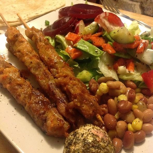 Chicken Kebabs And Salad @ blowfish kitchen
